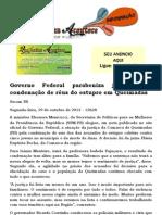Governo Federal parabeniza justiça pela condenação de réus do estupro em Queimadas