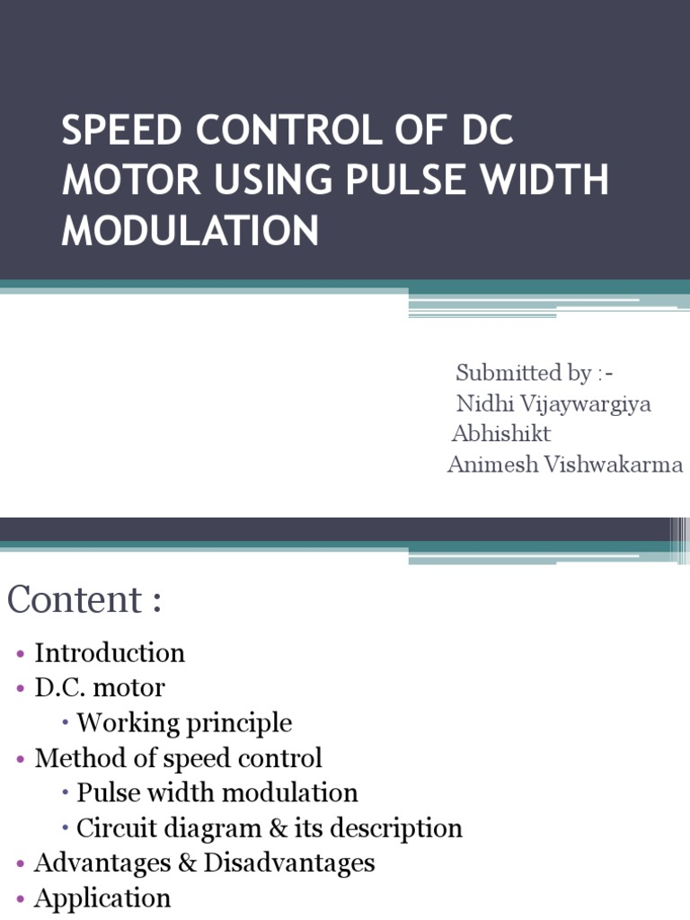 ppt of pwm dc motor | Electric Motor | Electronics