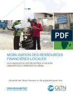 Mobilisation Des Resources Financieres Locales 2012