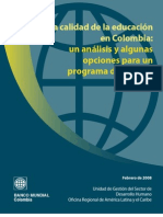 Calidad Del a Educa c i One n Colombia