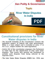 13 (B) River Water Disputes In India