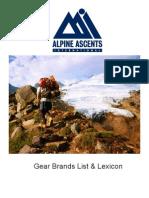 Alpine Climbing Gear List