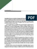 """Prólogo del libro """"La Inmigración China al Perú. Arqueología, Historia y Sociedad"""""""