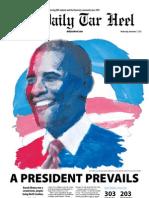 The Daily Tar Heel for November 7, 2012.