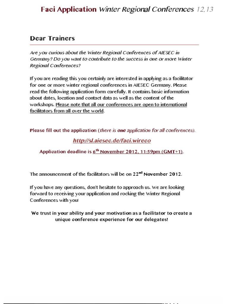 Aiesec Münster 10233674 faci application booklet winter regional