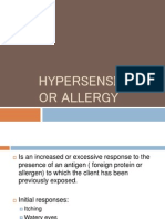 Hypersensitivity Reaction/ Allergy