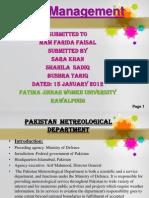 PROJECT..... Pakistan Meteorogical Department