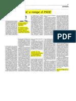 1 57 - O RECTIFICA EL PSC o ROMPE EL PSOE  Artículo del Presidente en El País  1-NOVIEMBRE-2012