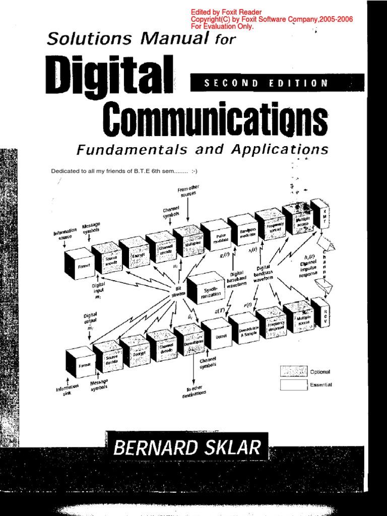 Solution manual digital communications fundamentals bernard sklarpdf fandeluxe Choice Image
