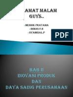 Inovasi Produk Bab II