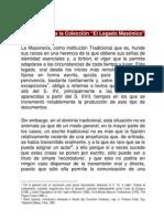 Introduccion El Legado Masonico y Textos Divulgativos Franceses