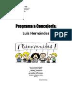 Program a Lucho Hernandez