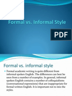 Formal vs Informal