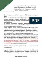 Dichiarazione Cons. Burgio - Sommatino - Consiglio Comunale del 5 NOV 2012