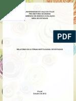 III Fórum Institucional de Estágios (Relatório)
