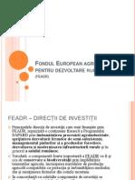 Fondul European agricol pentru dezvoltare rurală
