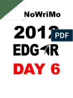 NaNoWriMo 2012 Edgar Bajana DAY 6