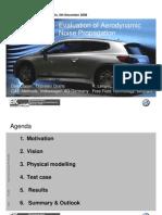 Evaluation of Aerodynamic Noise Propagation