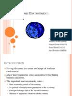 Macroeconomic Environment