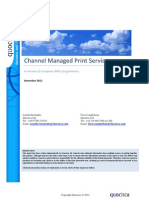 Channel Managed Print Services