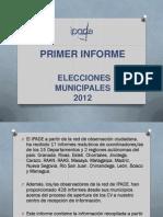 Primer Informe Elecciones Municipales 2012 Ipade