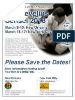 Save the Dates! Nevelius Sensei in New Orleans and NYC, March 2013