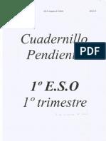 Cuadernillo pendiente 1º ESO