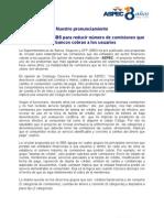 NOTA DE PRENSA. Proyecto de circular SBS para reducir número de comisiones (06.11.12)
