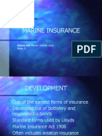 Lecture 15 - Marine Insurance