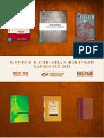 Mentor & Christian Heritage Catalogue 2013