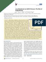 2012 Langmuir Pseudomonas Aeruginosa Attachment on QCM-D Sensors the Role Of