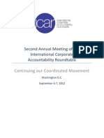 ICAR Second Annual Meeting Report