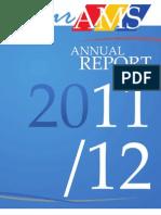 AMS Annual Report, 2011-12