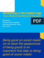 Marketing in the Digital Age and Social Media - 5 Nov 2012 - Rozen - AUP