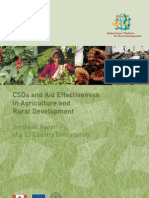 CSOs and Aid Effectiveness in ARD - A 13-Country Consultation