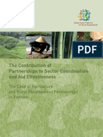 The contribution of partnerships to sector coordination and aid effectiveness