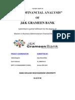 Microfinancial Analysis of j&k Grameen Bank2