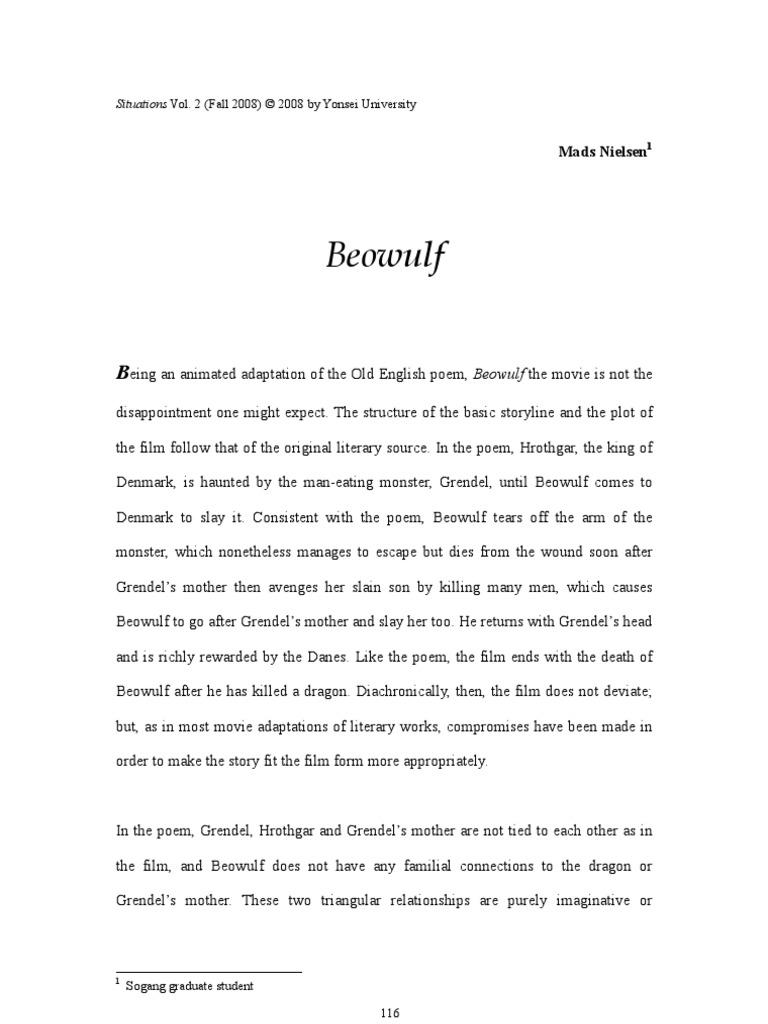 storyline of beowulf