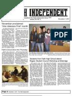 Faith Independent, November 7, 2012