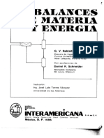 BALANCES DE MATERIA Y ENERGIA