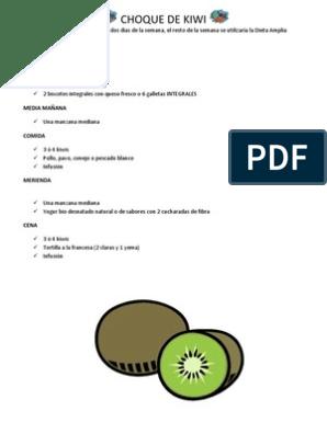dieta de choque kiwi naturhouse