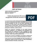 08-11-2011 Celebra Ayuntamiento 472 Aniversario Del Otorgamiento de Escudo de Armas a Guadalajara.