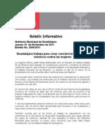 10-11-2011 Guadalajara Trabaja Para Crear Conciencia y Reducir La Violencia Contra Las Mujeres