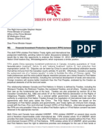 China Canada FIPA - Chiefs of Ontario Letter to PM Harper - Nov 5, 2012