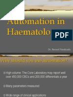 Automation in Haematology - Bernard