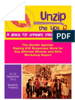 UNZIP the LIPS workshop and ASEAN Task Force on HIV/AIDS Consultation Meeting on Intimate Partners Transmission