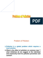 Problem of Pollution