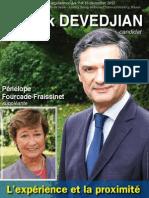 Affiche - Patrick Devedjian candidat aux élections législatives des 9 et 16 décembre 2012