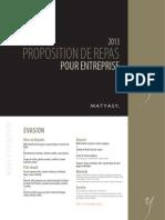 Matyasy Repas Entreprises 2013