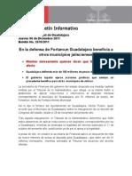 08-12-2011 en La Defensa de Fortamun Guadalajara Beneficia a Otros Municipios Jaliscienses